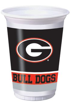 University of Georgia Plastic Beverage Cups - How 'Bout Them Dogs!