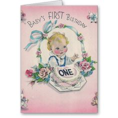 baby,s first birthday greeting card | Baby's first Birthday Cards from Zazzle.com