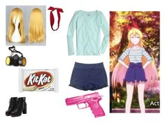 anime girl .9 by mayleneholm on Polyvore featuring J.Crew, BELAIR, Wet Seal, GAS Jeans, Reiss and Hello Kitty Reiss, Anime Style, Wet Seal, Hello Kitty, J Crew, Polyvore, Image, Fashion, Moda