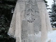 Kid Mohair Lace Wedding Shawl Hand Knitting от LaceShawlsWorld
