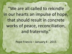 Which will be your concrete works of peace, reconciliation and fraternity? Read more at: www.news.va/en/news/pope-renews-call-for-peace-at-sunday-angelus