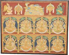 Tanjore Paintings - Antique Ashta Lakshmi