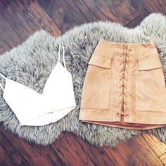 Jackie Skirt ✖️ Leatherette Crop || alyannaclothing.com
