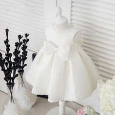 Cheap baptism dress, Buy Quality vestido infantil directly from China dress for Suppliers: White Flower Girls Dresses Bowknot Princess Wedding Gown dress for 1 year birthday baby girl baptism dress Vestido Infantil Baby Girl Birthday Dress, Girls Baptism Dress, Dress For Girl Child, Baby Girl Baptism, Birthday Dresses, Christening Dresses, Baby Girls, Baby Christening, Mom Baby