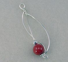 DIY wire pendant (or make 2 for a nice pair of earring, as shown in the tutorial) - Beading Times Project