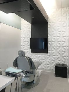 - Dental Treatment Area by DRC - Medizinische Clinic Interior Design, Clinic Design, Healthcare Design, Cabinet Medical, Dental Cabinet, Dentist Clinic, Dental Office Decor, Dental Office Design, Lobby Design