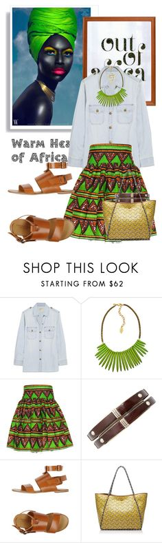 """Out Of Africa..."" by glamorous09 ❤ liked on Polyvore featuring Out of Africa, Current/Elliott, David Aubrey, Fabrizio Chini and Tory Burch"