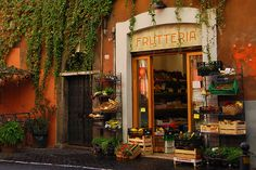 Fruit shop in Rome, Italy