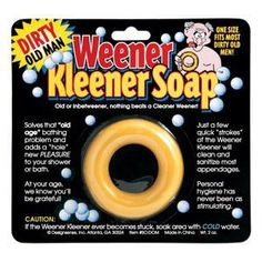 Dirty Old Man Weener Kleener Soap Prank-gag by bm. $5.99. Great gag or birthday gift for that older man in your life. It's soap for your weener.