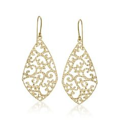 14kt Yellow Gold Cut-Out Drop Earrings