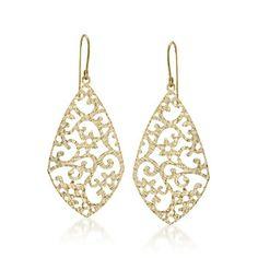 14kt Yellow Gold Cut-Out Drop Earrings