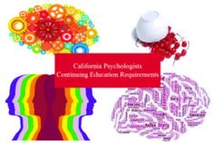 California Psychologists Continuing Education Requirements