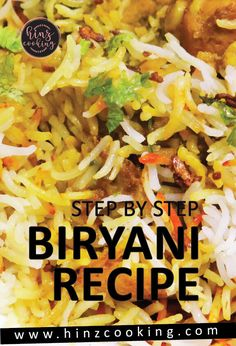 Sharing 'how to make biryani' at home step by step. If you looking to cook biryani then watch recipe tutorial. Recipe for beginners and bachelors. Pakistani Rice Recipes, Pakistani Chicken Recipes, Pakistani Dishes, Indian Food Recipes, Vegetarian Recipes, Cooking Recipes, Chicken Snacks, Best Chicken Recipes, Biryani Chicken