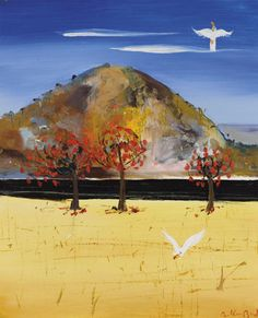 """Flame Trees and Cockatoos"" by Arthur Boyd"