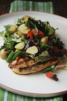 The Balanced Diet: Chicken Paillard with Chopped Salad Nicoise