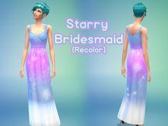 Kayli.Mills' Starry Sky Bridesmaid Dress