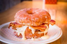 Doughnut and fried chicken - perfect