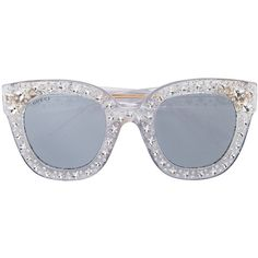 Gucci cat eye star sunglasses ($835) ❤ liked on Polyvore featuring accessories, eyewear, sunglasses, glasses, grey, transparent glasses, cat-eye glasses, gucci glasses, gucci and gray sunglasses