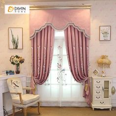 Tuscan style – Mediterranean Home Decor Grommet Curtains, Blackout Curtains, Window Curtains, Valance, Drapery, Living Room Decor Curtains, Living Room Windows, New Living Room, Wood Shutters