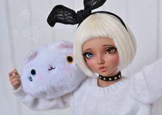 new friend :3 (4arllin) Tags: alpaca doll tan chloe wig moe bjd fairyland mnf minifee
