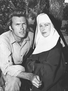 "Agnes Moorehead appears alongside Clint Eastwood in an episode of Rawhide titled ""Incident at Poco Tiempo"", 1960"