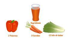 Pour cette cinquième journée de détox, voici un jus sain et délicieux à l'extracteur de jus : le jus poivron et carotte.