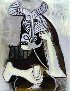 Picasso, Pablo (1881-1973) The King of the Minotaurs Date: 1958. Cubism, Oil on canvas