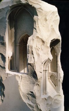 Miniature Spaces Carved From Stone