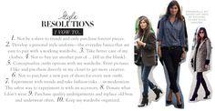 Dress like Emmanuelle Alt - 2013 style resolutions | from #jnsq