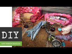 Abbi Berta - Recycled Watercolor Sari Ribbon Bangle Bracelet Tutorial - The Bead Place DIY