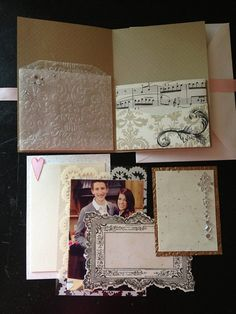 Gorgeous Triple Pocket Wedding Invitation Custom by PaperLuxuries. Shabby Chic wedding invites