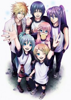 Len//Kaito//Gakupo//Luka//Miku//Rin - aaa ta kawaiiosaa la peckk... amee komo salen.. xD waa de los 3 el k mas me guztaa es len *¬* aunk kon los otros = babeo xD - Fotolog