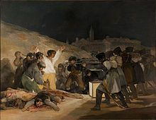 """Goya was famous for the way he used light in his paintings, exhibited through his """"The Third of May 1808""""."""