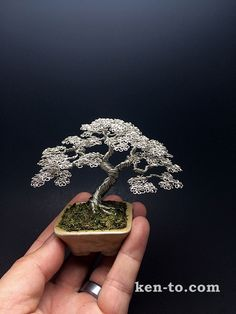 Silver wire bonsai tree sculpture by Ken To by KenToArt on DeviantArt
