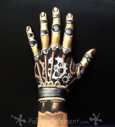 Steampunk Hand by Gretchen Fleener! Click for step-by-step & product links.