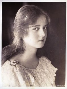 A very young Bette Davis