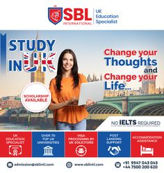 SBL International is the Best Overseas Education Consultant in Calicut. We offers you the Best Study in UK programs for International Students all over the world. We assist the students in their Study Abroad dreams along with delivering quality. Overseas Education, Ielts, Study Abroad, All Over The World, You Changed, University, Student, Life, Community College
