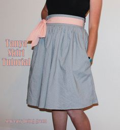 sew easy being green: Sewing for ME: The Tanya Skirt Tutorial