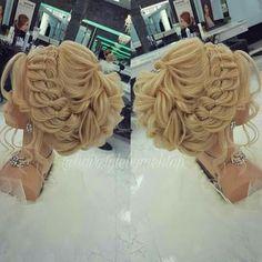Pin by Tirzah Forsyth on hair in 2019 Braided Hairstyles Tutorials, Fancy Hairstyles, Bride Hairstyles, Peinado Updo, Pinterest Hair, Prom Hair, Bridal Hair, Hair Inspiration, Marie