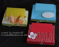 Pop up post-it note holder by Kirsteen Gill - Cards and Paper Crafts at Splitcoaststampers