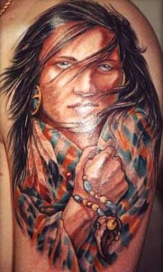 Indian Back Tattos for Women | Native Tattoos on Free Tattoo Designs With Best Native Tattoo Arts ...