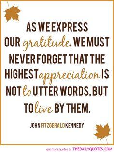 Our Gratitude