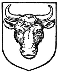 Fig. 377.—Bull's head caboshed. Date 	1909 Source 	A Complete Guide to Heraldry. Author 	 [show]Arthur Charles Fox-Davies oktouse