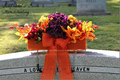 A DIY about how to make your own beautiful headstone flowers.
