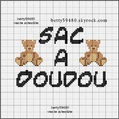 Bébé - baby - sac à doudou - point de croix - cross stitch - Blog : http://broderiemimie44.canalblog.com/