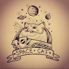 Resultado de imagen para space cat tattoo