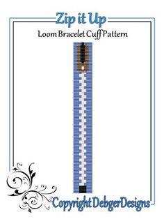 Zip+it+Up+-+Loom+Bracelet+Cuff+Pattern