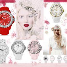 Rosa cipria accostato al rosso intenso e al bianco: come una rosa nella neve! Atmosfere da favola anche al polso con gli orologi H2X REEF LADY con cristalli, H2X ONE STUDS con borchie e H2X ONE LADY, che brillano di riflessi argento e oro!