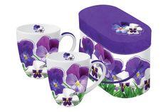 www.gifthaus.co.za Pansy Party Mug Set Mugs Set, Pansies, Tea Time, Porcelain, Tableware, Party, Porcelain Ceramics, Dinnerware, Tablewares