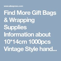 Find More Gift Bags & Wrapping Supplies Information about 10*14cm 1000pcs Vintage Style handmade Jute Sacks Drawstring gift bags for jewelry/wedding/christmas Packaging Linen pouch Bags,High Quality bag 600d,China gift bag handle Suppliers, Cheap gift bag display from Fashion MY life on Aliexpress.com